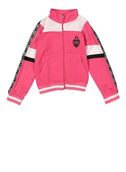 Girls 7-16 Color Block Love Track Jacket - 1631063370005