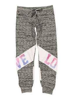 Girls 7-16 Love Graphic Joggers - 1631063400001