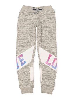 Girls 7-16 Love Graphic Joggers | 1631063400001 - 1631063400001