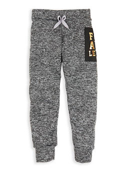 Girls 7-16 Flawless 3D Foil Graphic Joggers - 1631063400005
