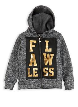 Girls 7-16 Flawless 3D Foil Graphic Sweatshirt - 1631063400006