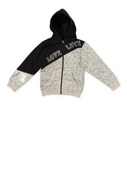 Girls 7-16 Love Foil Graphic Sweatshirt - 1631063400022
