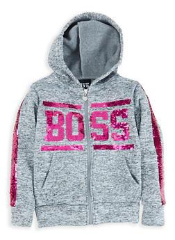 Girls 7-16 Boss Reversible Sequin Sweatshirt - 1631063400031