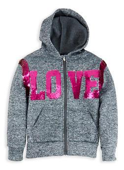 Girls 7-16 Love Reversible Sequin Sweatshirt - 1631063400121