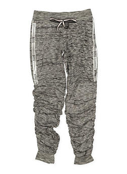 Girls 7-16 Boss Graphic Ruched Joggers - 1631063400152