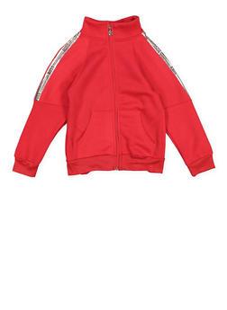Girls 7-16 Boss Graphic Zip Up Sweatshirt - 1631063400153