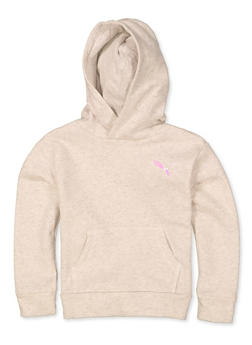 Girls Puma Marled Hooded Sweatshirt - 1631075230025