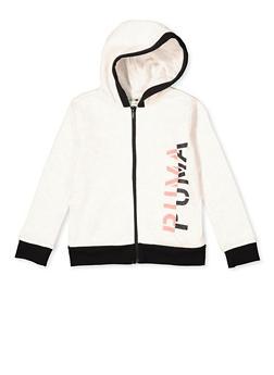 Girls Puma Contrast Trim Sweatshirt - 1631075230063