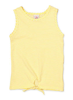 Girls 7-16 Striped Tie Front Tank Top - 1633054730065