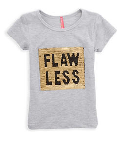 Girls 4-6x Sequin Flawless Graphic T Shirt - 1634066590162