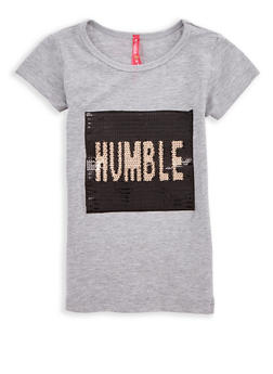 Girls 4-6x Humble Sequin Graphic T Shirt - 1634066590165