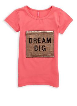 Girls 4-6x Dream Big Sequin Graphic T Shirt - 1634066590166