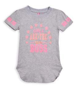 Girls 4-6x Boss Glitter Graphic T Shirt - 1634066590170