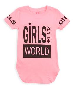 Girls 4-6x Girls World Tunic T Shirt - 1634066590171