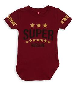 Girls 4-6x Glitter Graphic T Shirt - 1634066590180