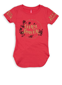 Girls 4-6x Girl Power Graphic Top - 1634066590181