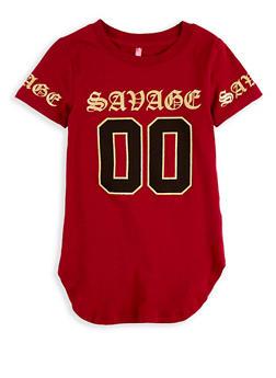 Girls 4-6x Savage Graphic T Shirt - 1634066590184