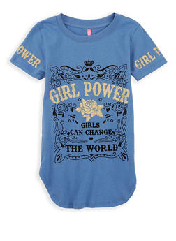 Girls 4-6x Girl Power Graphic Top - 1634066590186