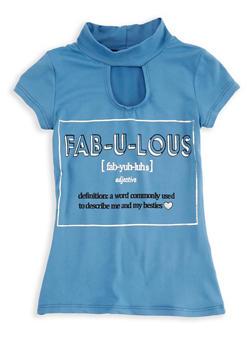 Girls 4-6x Fabulous Graphic Top - 1634066590203