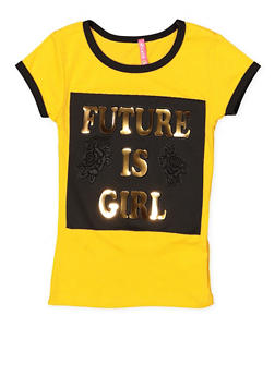 Girls 4-6x Future is Girl 3D Foil Graphic Tee - 1634066590235