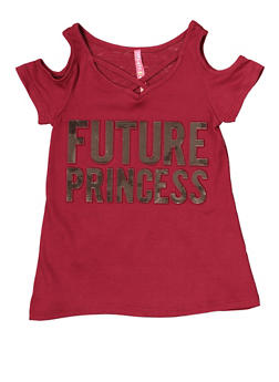 Girls 4-6x Future Princess 3D Foil Graphic Tee - 1634066590261