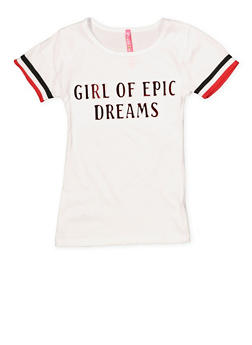 Girls 4-6x Dreams 3D Graphic Tee - 1634066590269