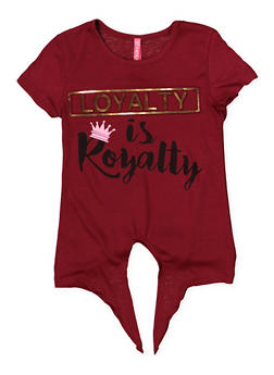 Girls 4-6x 3D Loyalty Foil Graphic Tee - 1634066590278