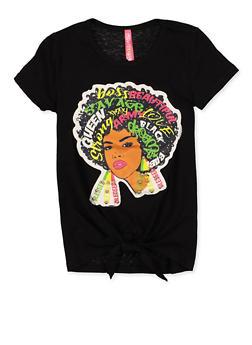 Girls 4-6x Afro Girl Patch Tee - 1634066590324