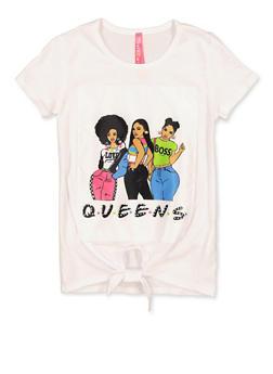 Girls 4-6x Queens Graphic Patch Tee - 1634066590325