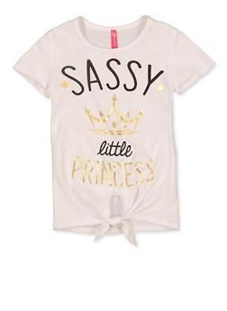 Girls 4-6x Sassy Little Princess Tee - 1634066590337