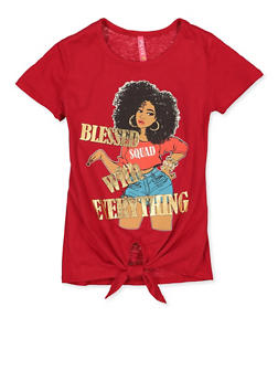 Girls 4-6x Blessed with Everything Tee - 1634066590338