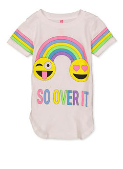 Girls 4-6x So Over It Graphic Tee - 1634066590360