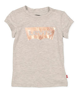 Girls 4-6x Levis Foil Graphic Tee | Heather - 1634070340015
