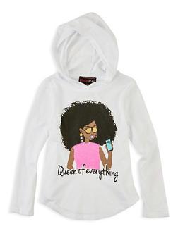 Girls 4-6x Queen of Everything Reversible Sequin Top - 1634073990027