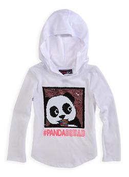 Girls 4-6x Reversible Sequin Panda Squad Top - 1634073990029