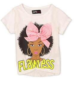 Girls 4-6x Flawless 3D Bow Tee - 1634073990068