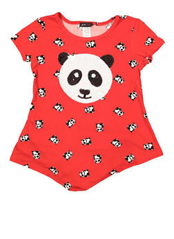 Girls 7-16 Sequin Panda Graphic Tee - 1635029890130