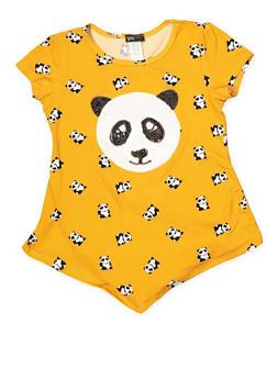 Girls 7-16 Sequin Panda Graphic Tee - 1635029890130