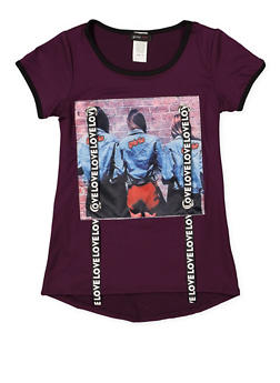 a35e7e777816 Girls 7-16 Love Graphic Ribbon Tee - 1635029890151
