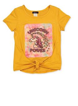 Girls 7-16 Unicorn Power Tee - 1635029890408