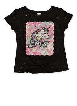 Girls 7-16 Unicorn Magic Tee - 1635029890417
