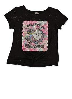 Girls 7-16 I Believe in Unicorns Tee - 1635029890418