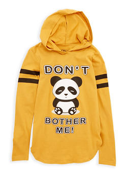 Girls 7-16 Dont Bother Me Panda Graphic Top - 1635033870091