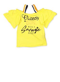 Girls 7-16 Classy Grl Cold Shoulder Top - 1635038340071