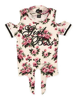 Girls 7-16 Girl Boss Floral Top - 1635051060033