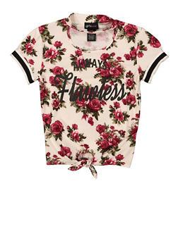 Girls 7-16 Always Flawless Floral Tee - 1635051060035