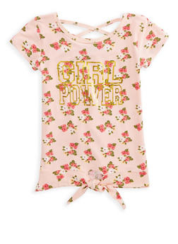 Girls 7-16 Girl Power Graphic High Low Top - 1635054730005