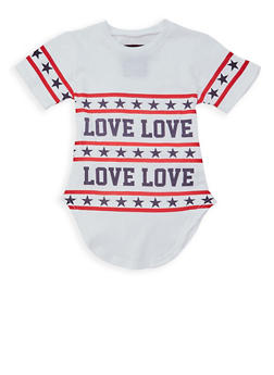 Girls 7-16 Americana Love Graphic T Shirt - 1635063400015