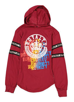 Girls 7-16 Royalty Graphic Hooded Tee - 1635063400028