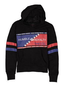 Girls 7-16 Humble Royalty Hooded Tee - 1635063400032